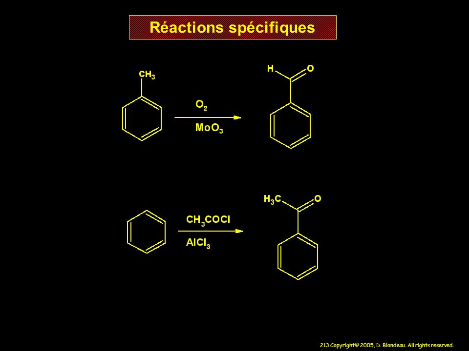 Réactions spécifiques