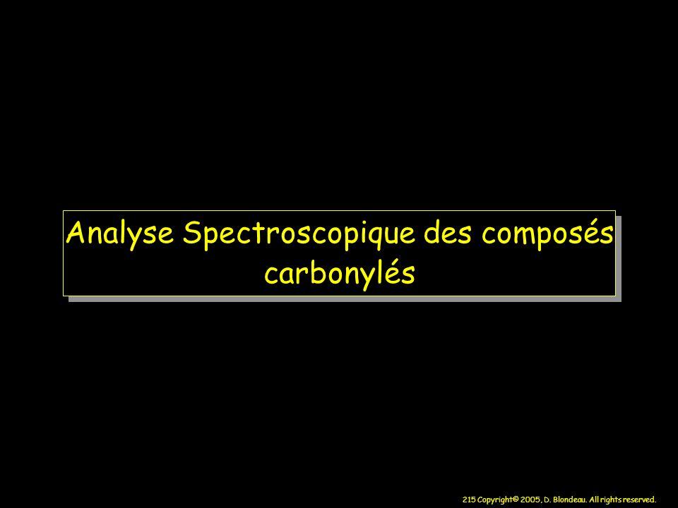 Analyse Spectroscopique des composés carbonylés