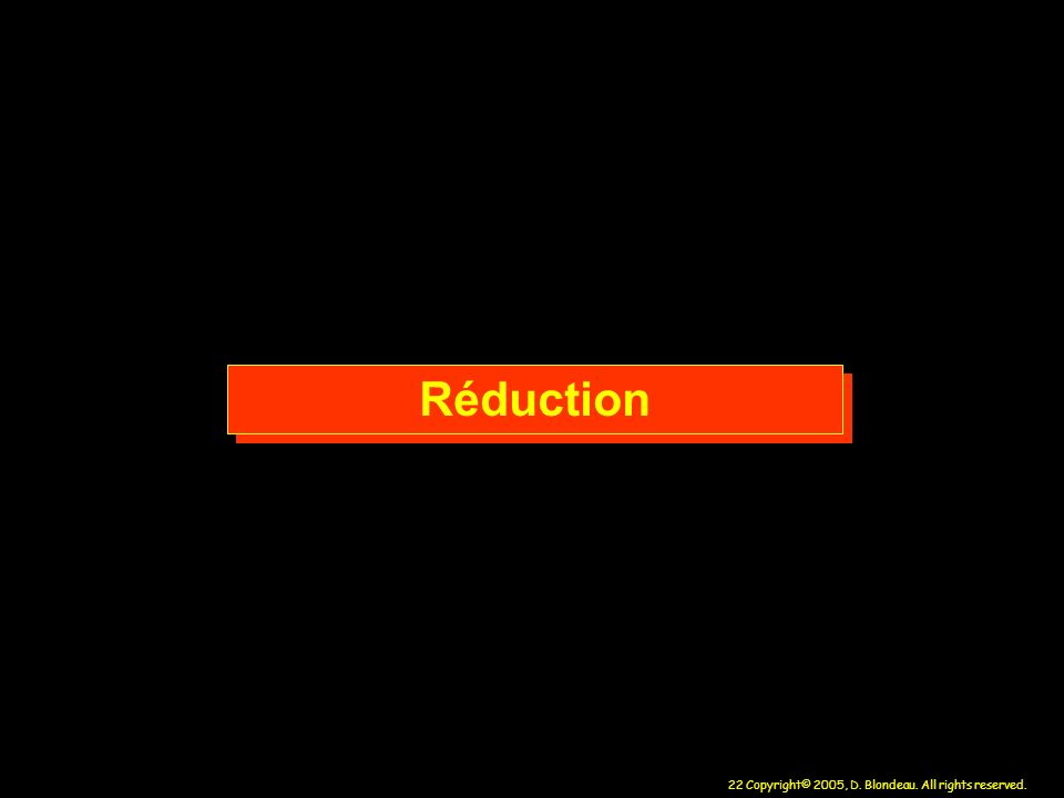 Réduction