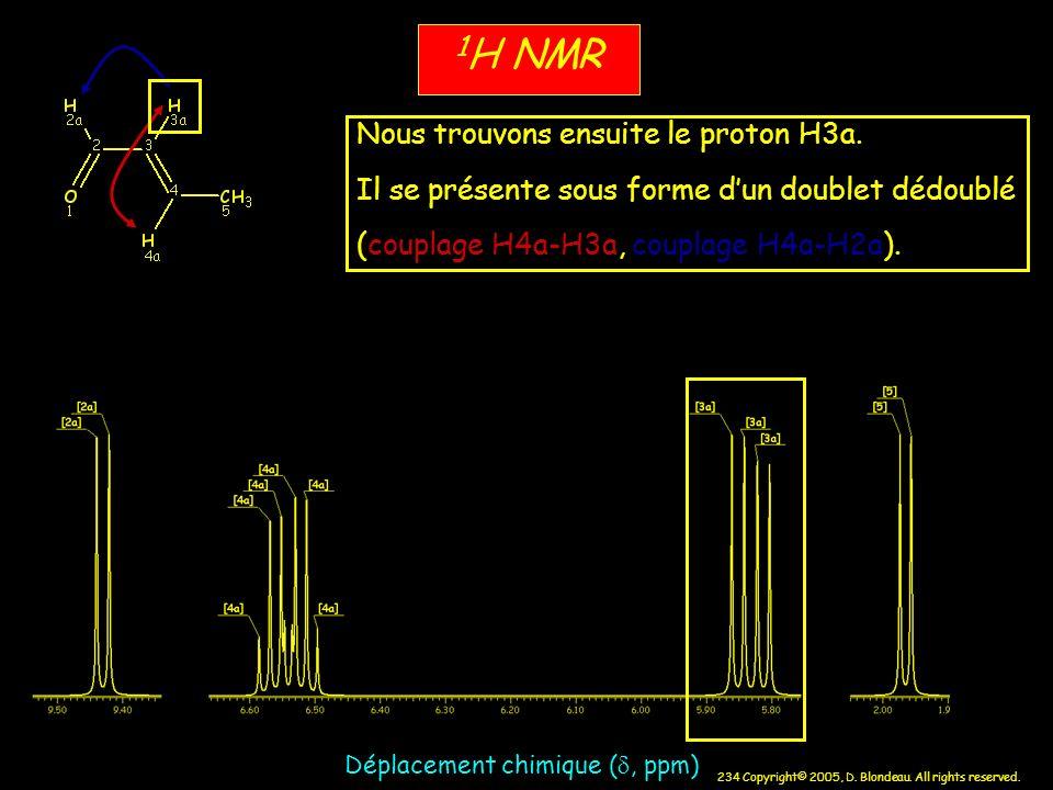 1H NMR Nous trouvons ensuite le proton H3a.
