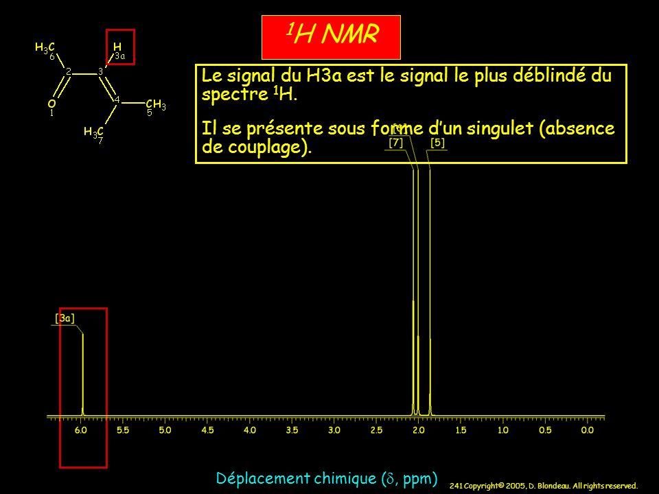 1H NMR Le signal du H3a est le signal le plus déblindé du spectre 1H.
