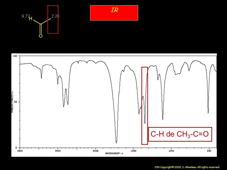 IR C-H de CH3-C=O