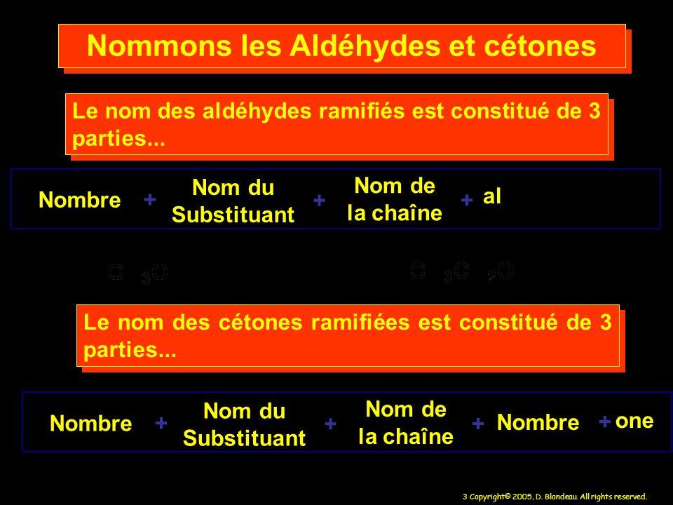 Nommons les Aldéhydes et cétones