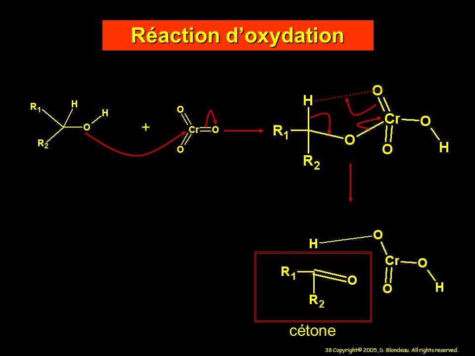 Réaction d'oxydation + cétone