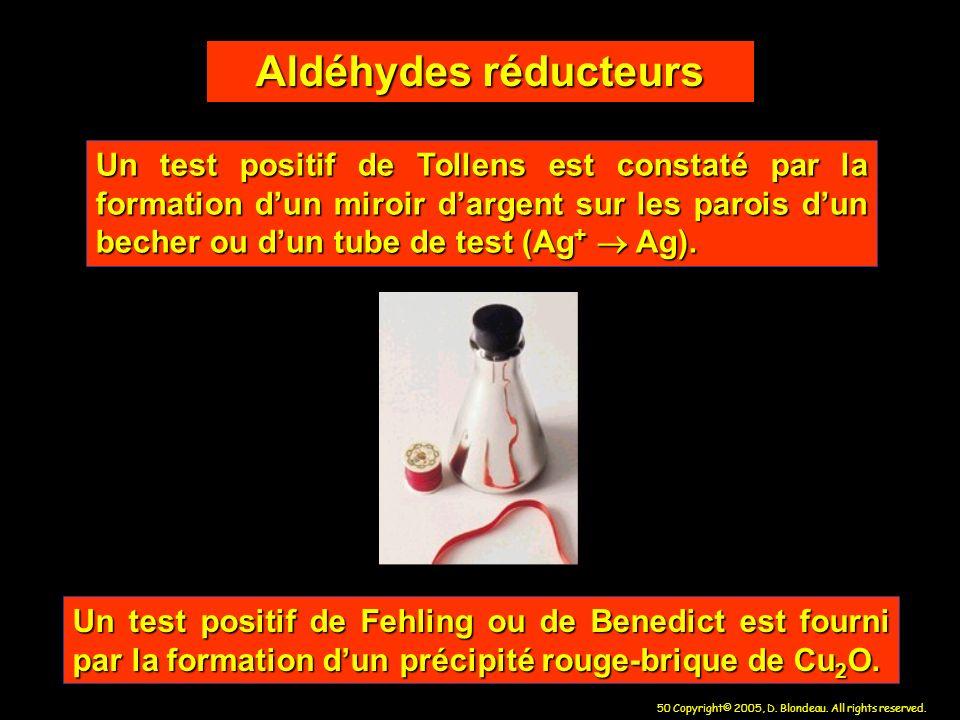 Aldéhydes réducteurs