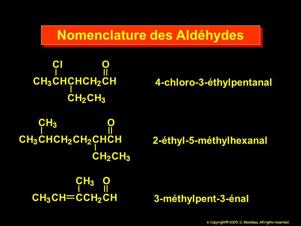 Nomenclature des Aldéhydes