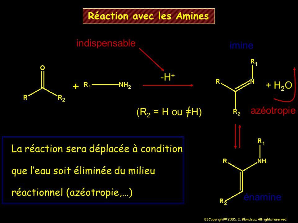 Réaction avec les Amines