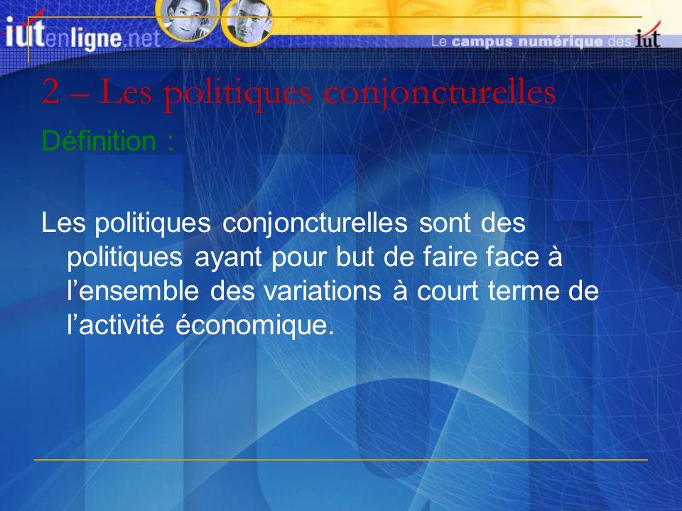 2 – Les politiques conjoncturelles