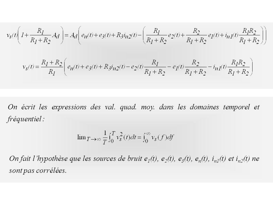 On écrit les expressions des val. quad. moy
