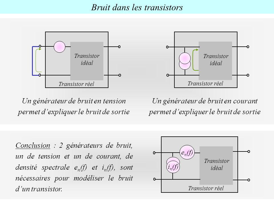 Bruit dans les transistors