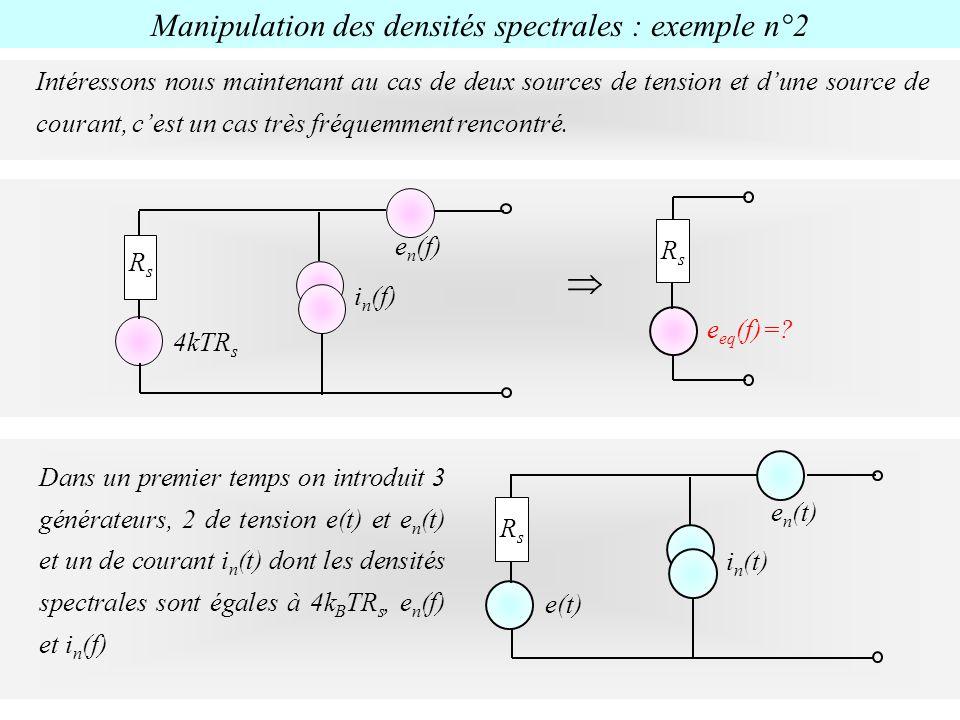 Manipulation des densités spectrales : exemple n°2