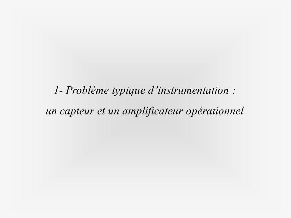 1- Problème typique d'instrumentation : un capteur et un amplificateur opérationnel