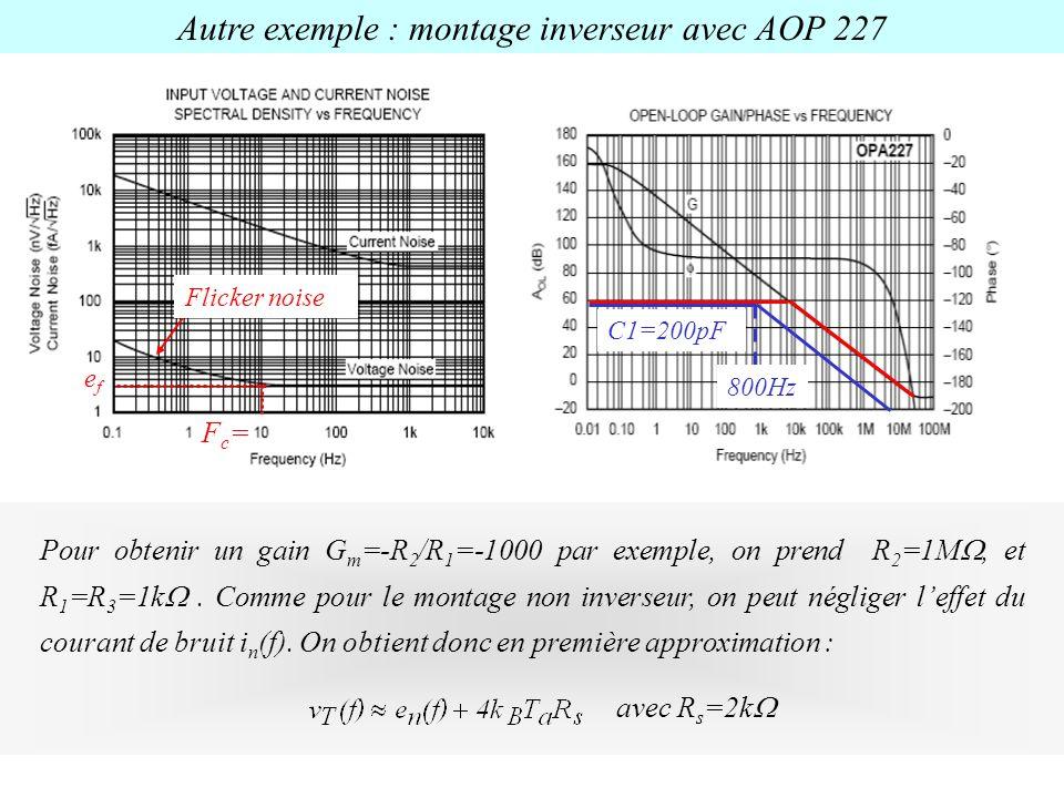 Autre exemple : montage inverseur avec AOP 227