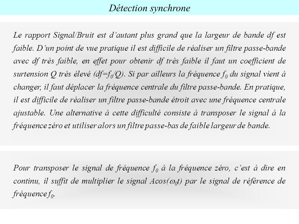 Détection synchrone