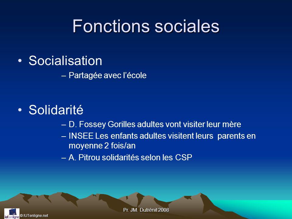 Fonctions sociales Socialisation Solidarité Partagée avec l'école