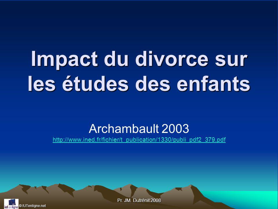 Impact du divorce sur les études des enfants