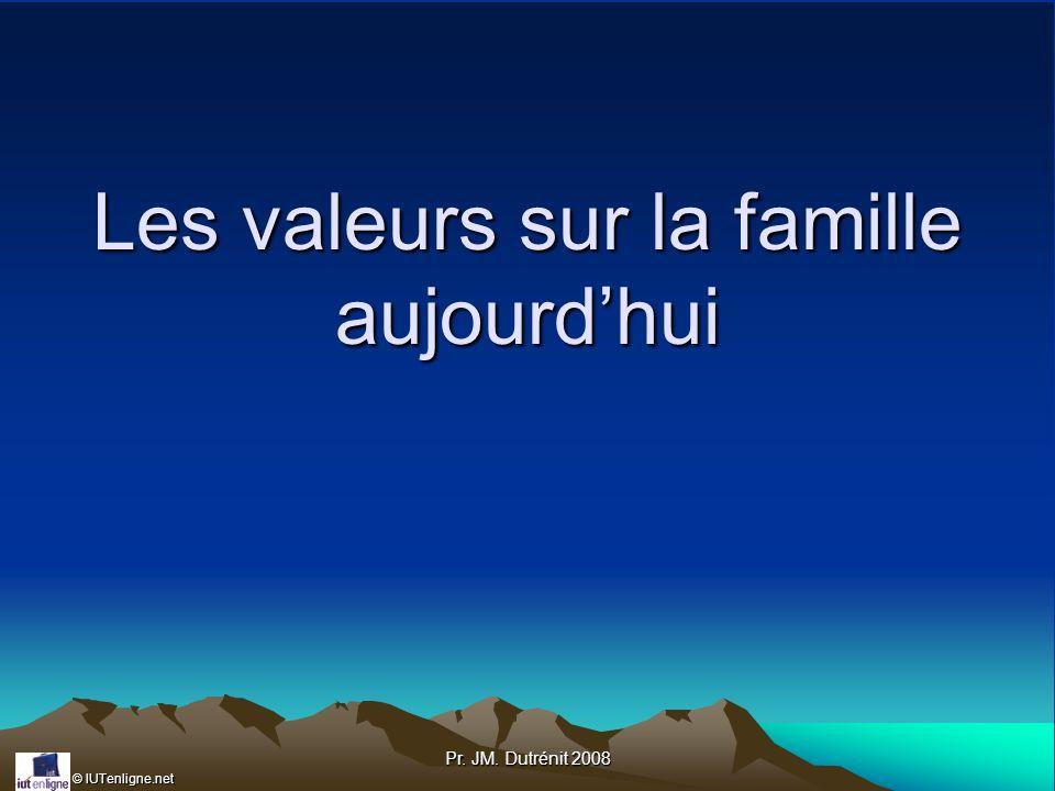 Les valeurs sur la famille aujourd'hui