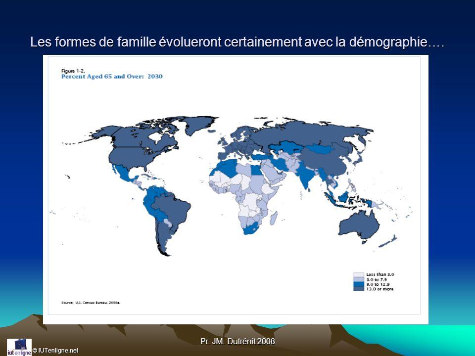 Les formes de famille évolueront certainement avec la démographie….
