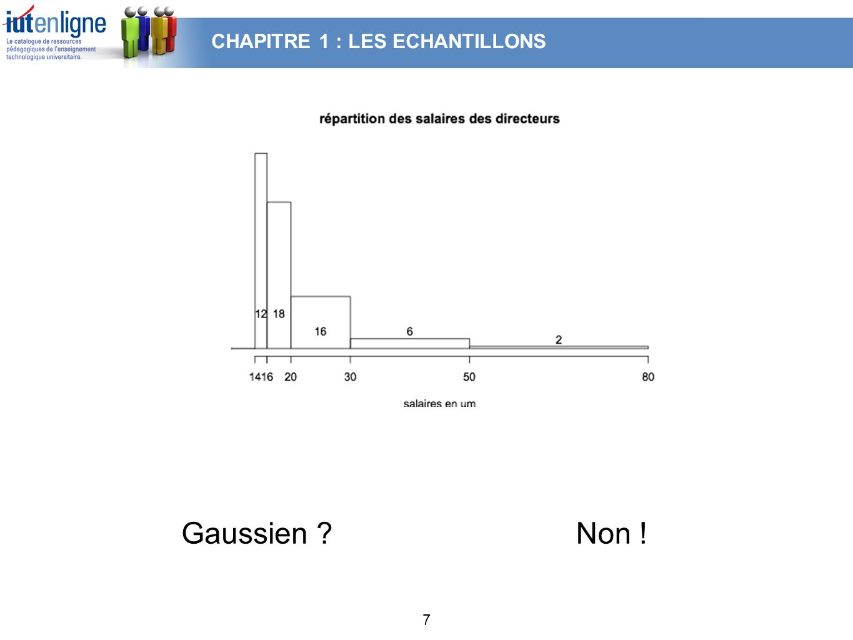 CHAPITRE 1 : LES ECHANTILLONS