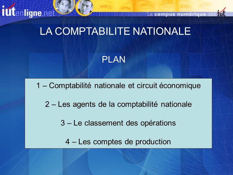 LA COMPTABILITE NATIONALE