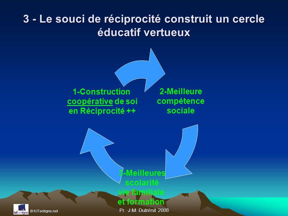 3 - Le souci de réciprocité construit un cercle éducatif vertueux