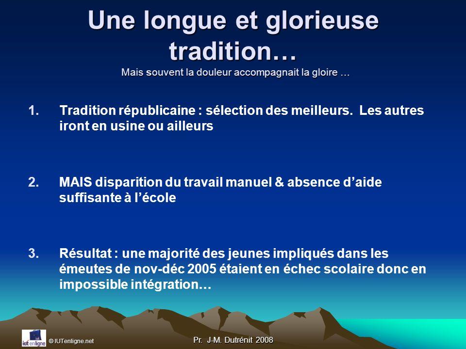 Une longue et glorieuse tradition… Mais souvent la douleur accompagnait la gloire …