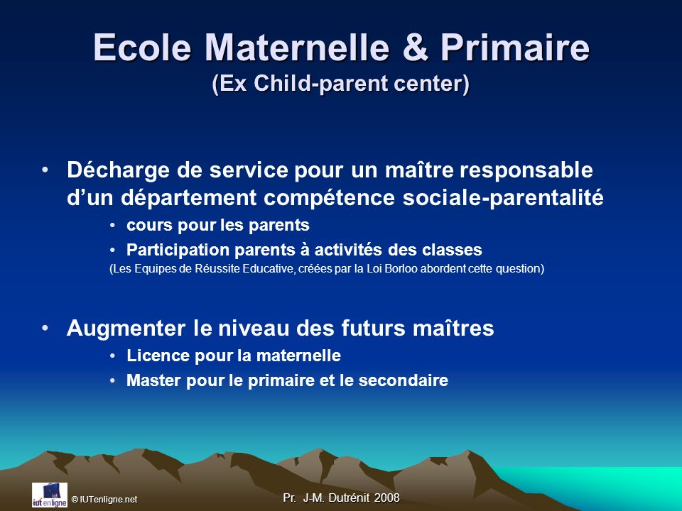 Ecole Maternelle & Primaire (Ex Child-parent center)