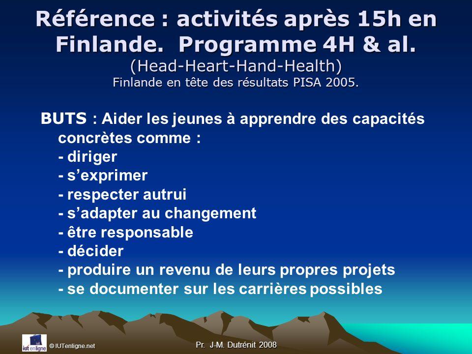 Référence : activités après 15h en Finlande. Programme 4H & al