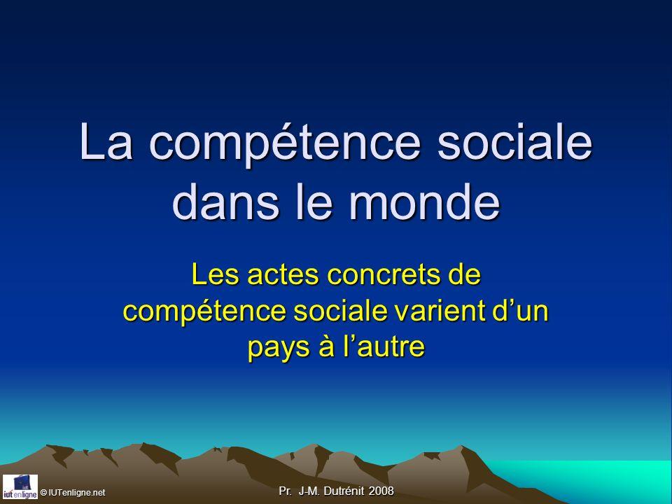 La compétence sociale dans le monde