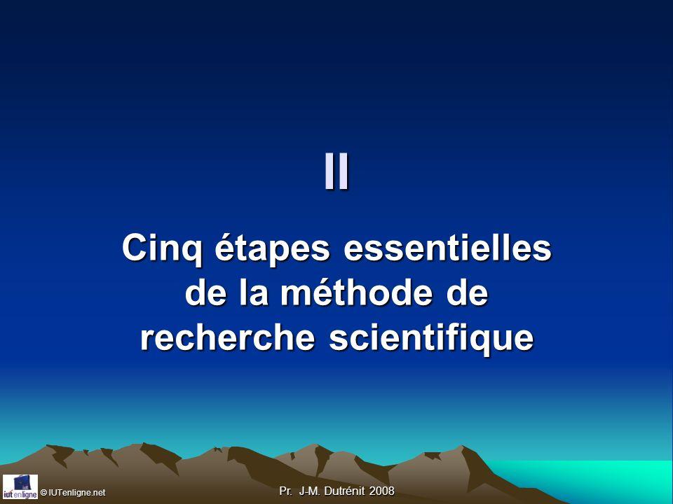 Cinq étapes essentielles de la méthode de recherche scientifique