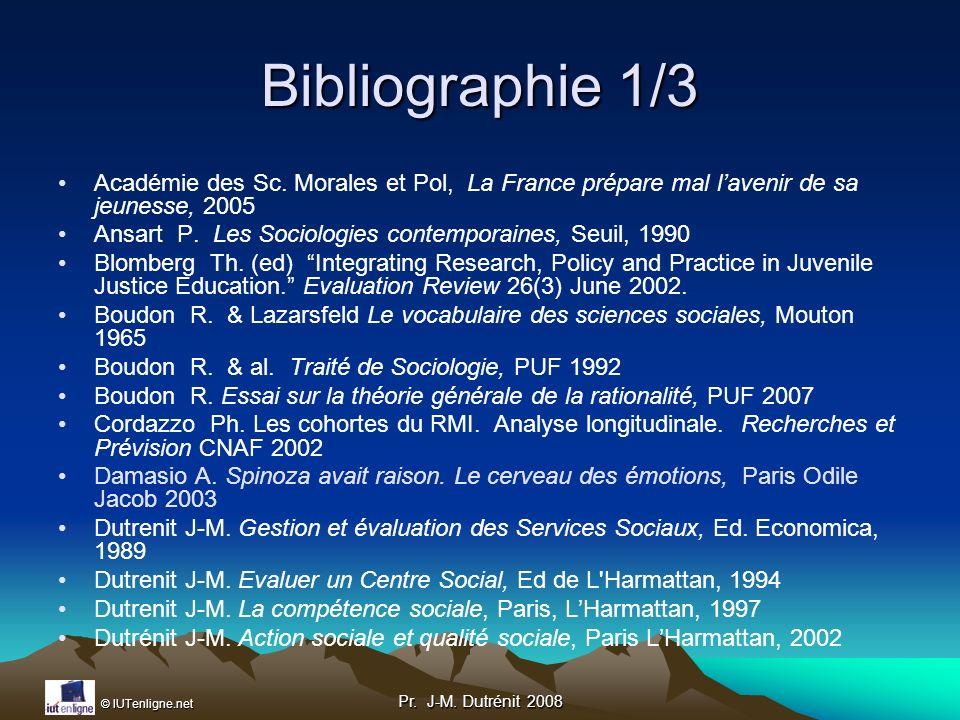 Bibliographie 1/3 Académie des Sc. Morales et Pol, La France prépare mal l'avenir de sa jeunesse, 2005.