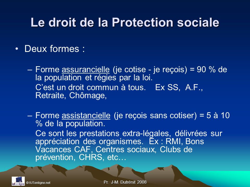 Le droit de la Protection sociale