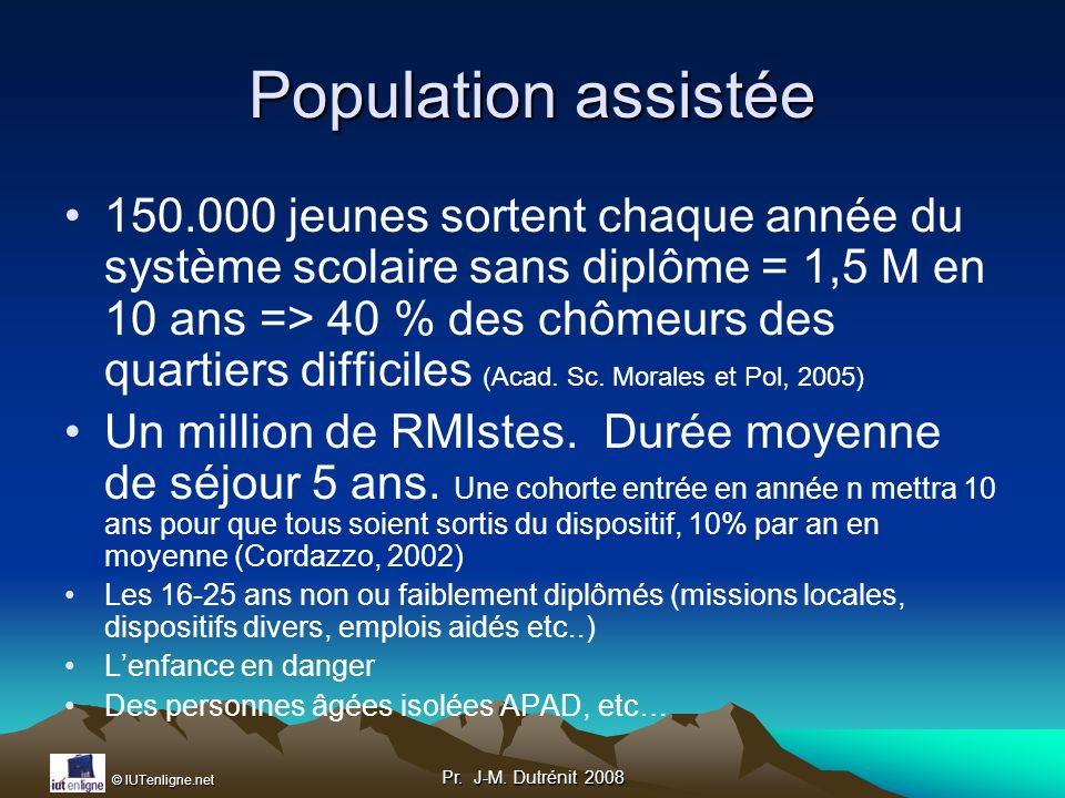 Population assistée