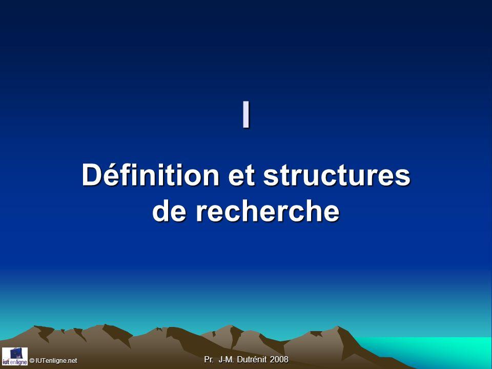 Définition et structures de recherche