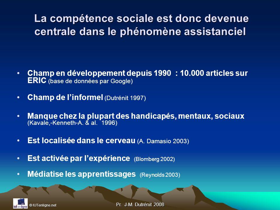 La compétence sociale est donc devenue centrale dans le phénomène assistanciel