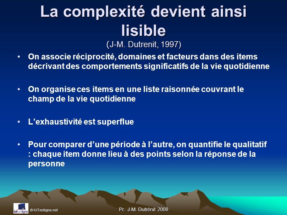 La complexité devient ainsi lisible (J-M. Dutrenit, 1997)