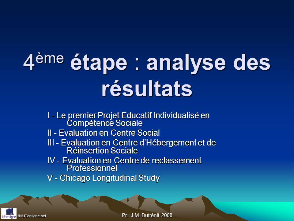 4ème étape : analyse des résultats