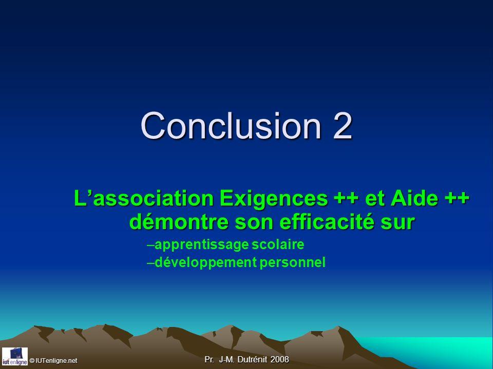 L'association Exigences ++ et Aide ++ démontre son efficacité sur