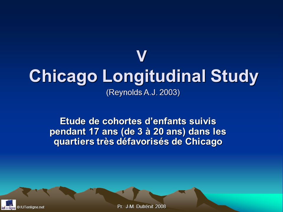 V Chicago Longitudinal Study (Reynolds A.J. 2003)
