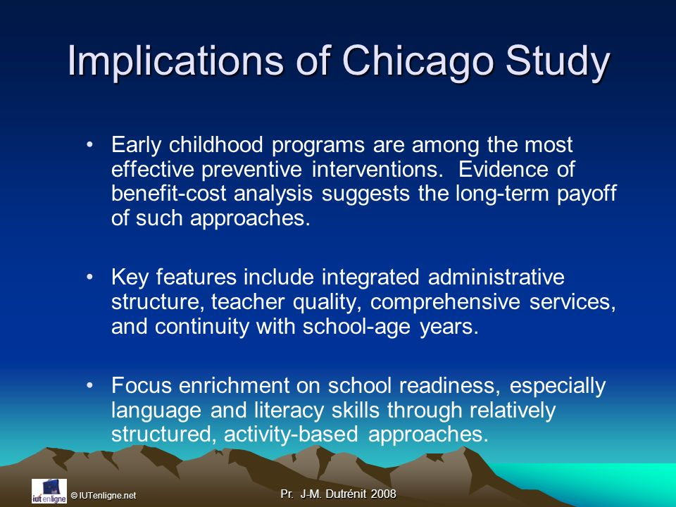 Implications of Chicago Study