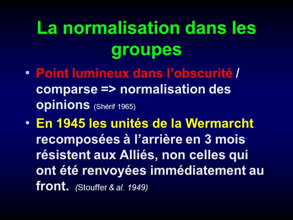 La normalisation dans les groupes