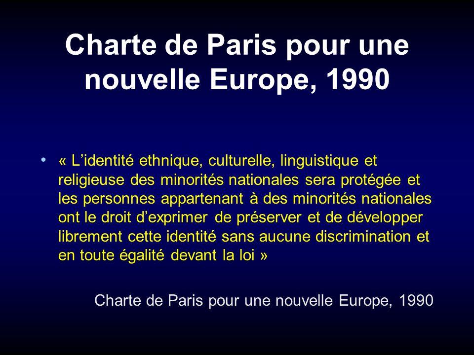 Charte de Paris pour une nouvelle Europe, 1990