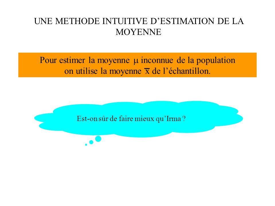 UNE METHODE INTUITIVE D'ESTIMATION DE LA MOYENNE