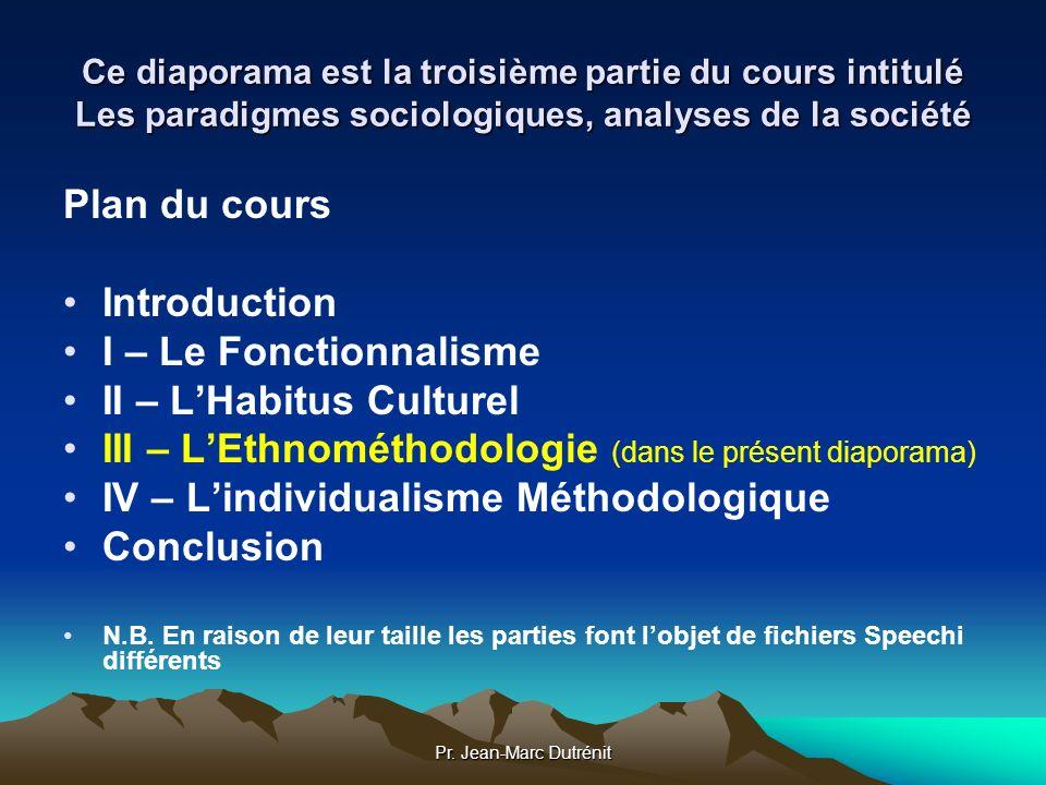 II – L'Habitus Culturel