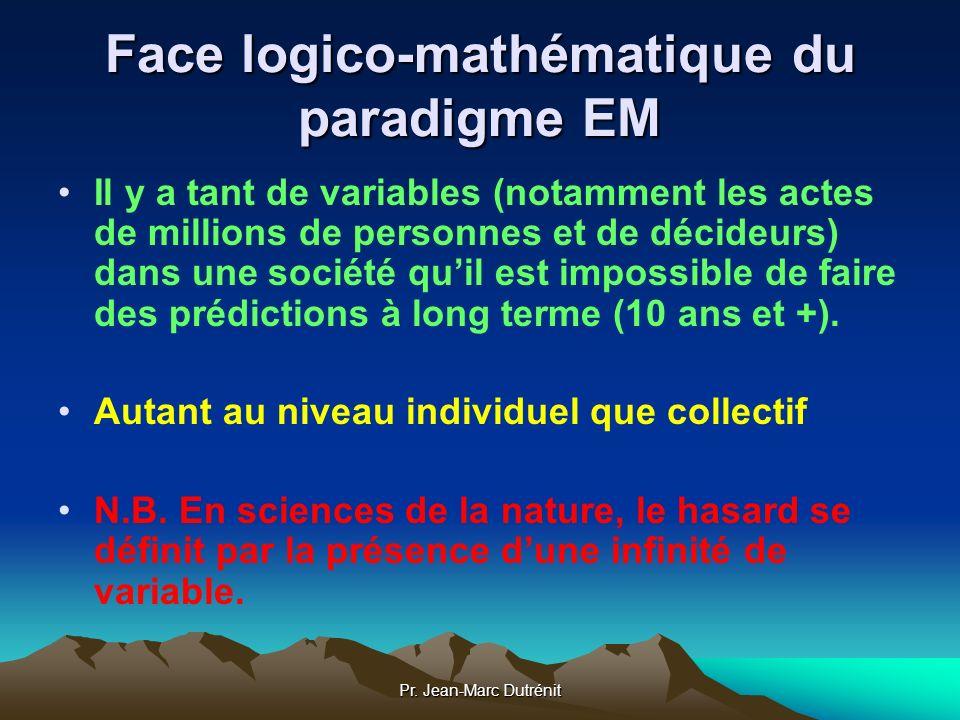 Face logico-mathématique du paradigme EM