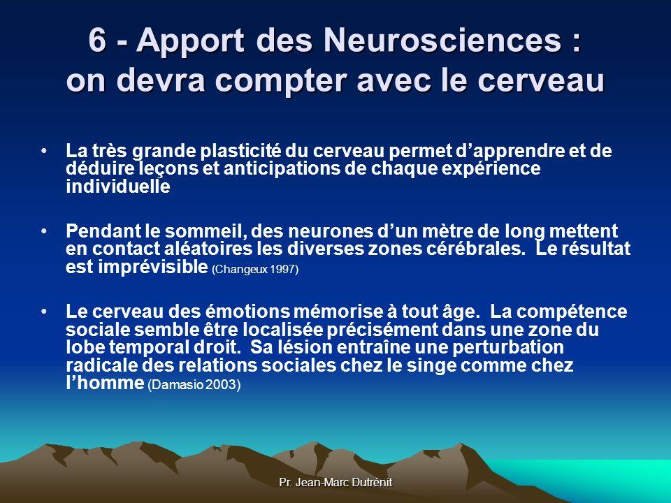 6 - Apport des Neurosciences : on devra compter avec le cerveau