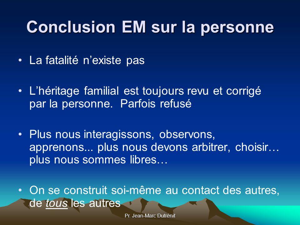 Conclusion EM sur la personne