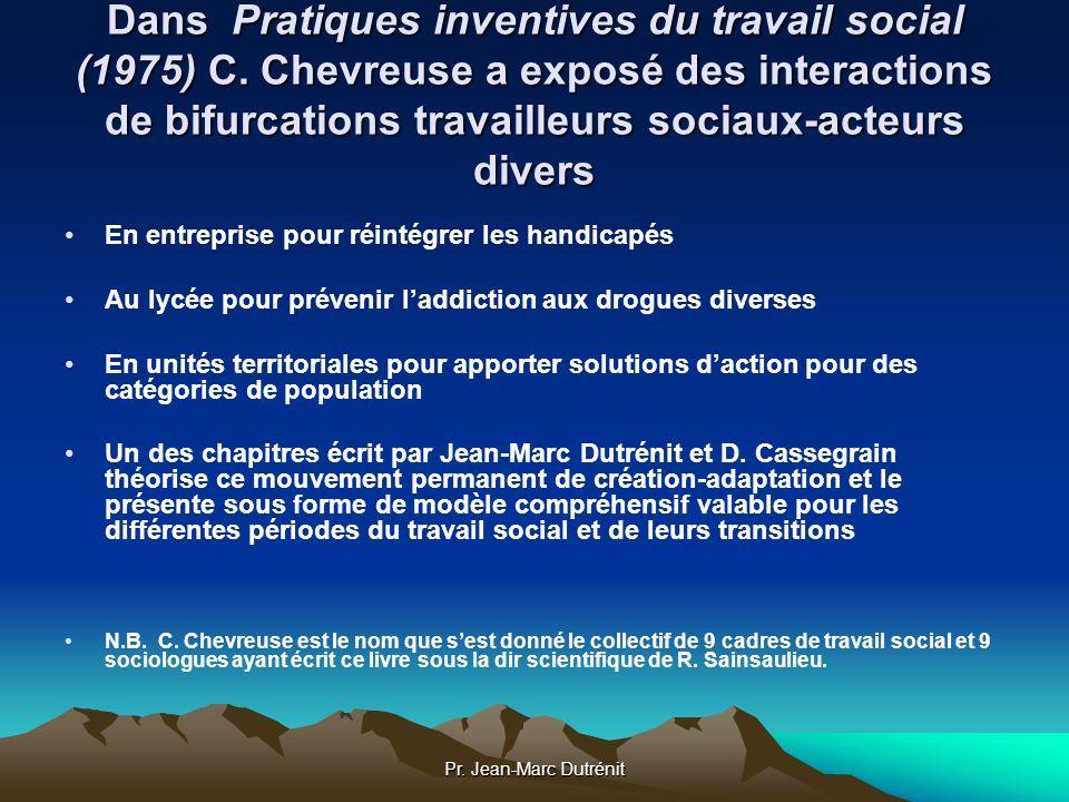 Dans Pratiques inventives du travail social (1975) C