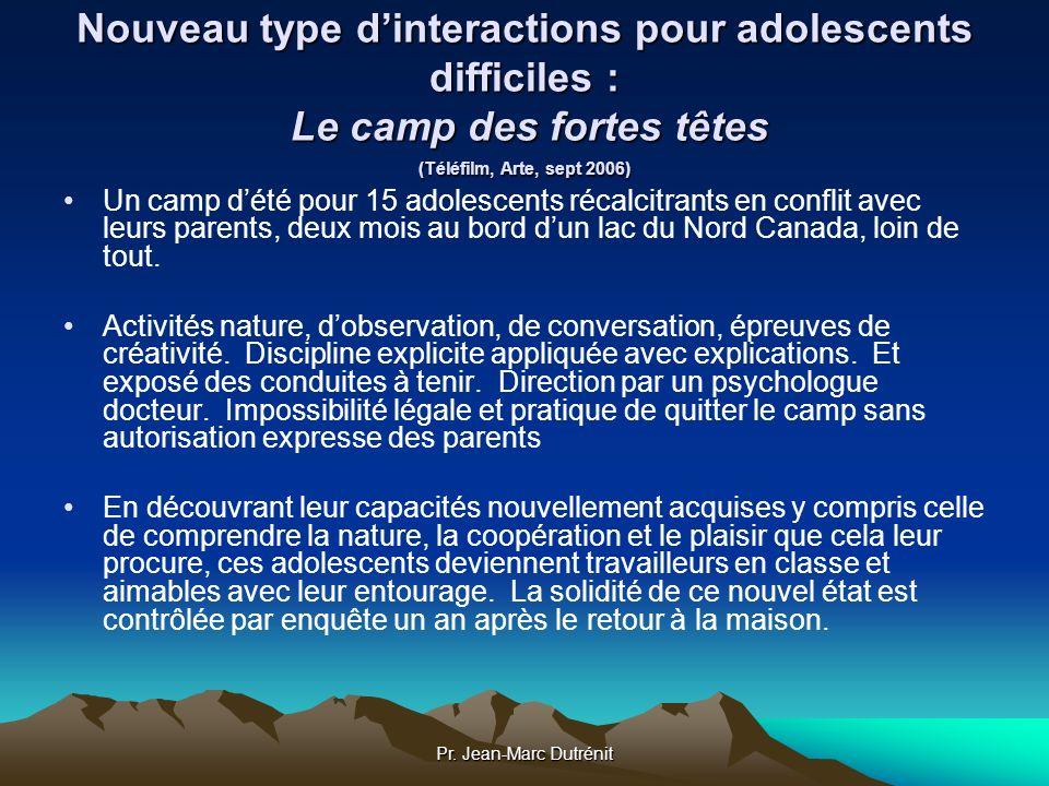 Nouveau type d'interactions pour adolescents difficiles : Le camp des fortes têtes (Téléfilm, Arte, sept 2006)