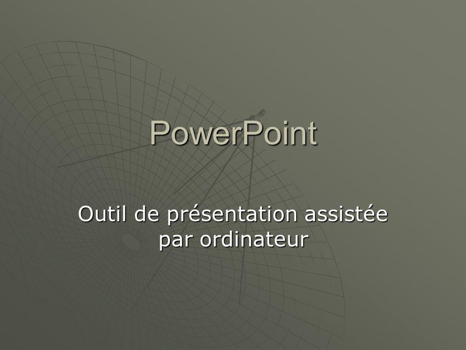 Outil de présentation assistée par ordinateur